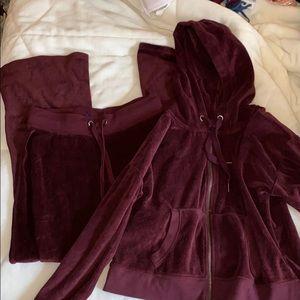 🔴Aeropostale Velvet Track Suit